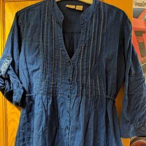Royal blue casual prasant/tunic top